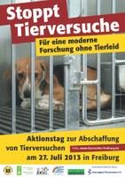 20 Jahre TIF: Aktionstag zur Abschaffung von Tierversuchen 2013